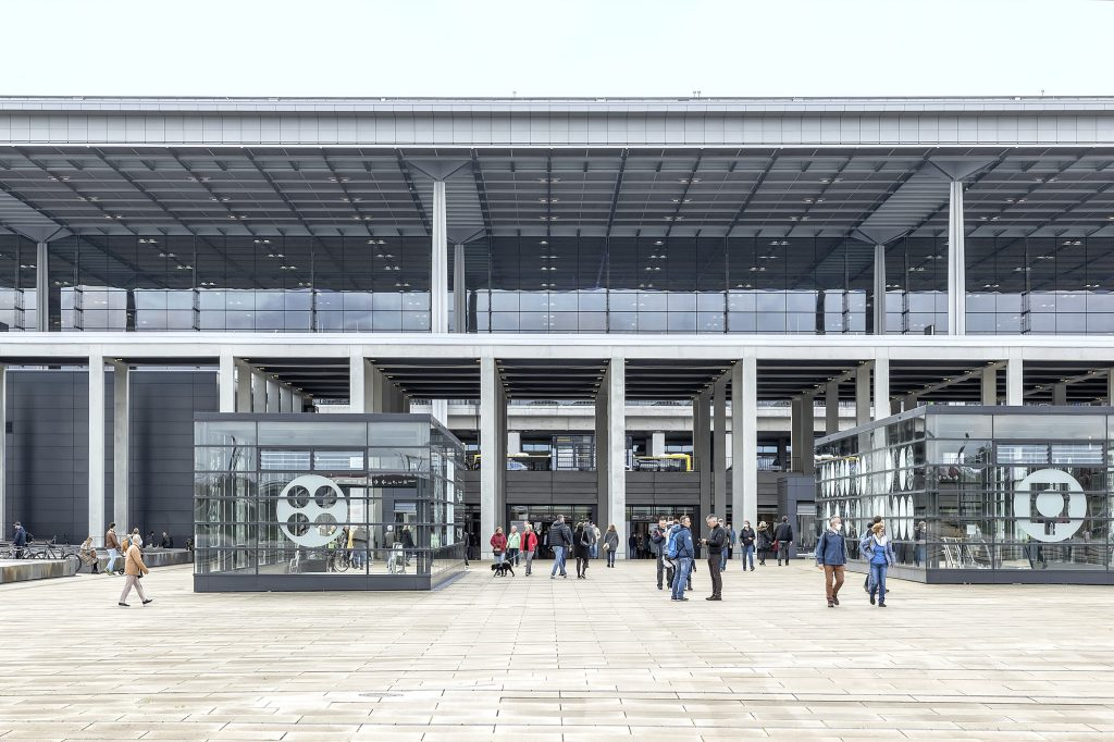 Main entrance, BER terminal, designed by gmp