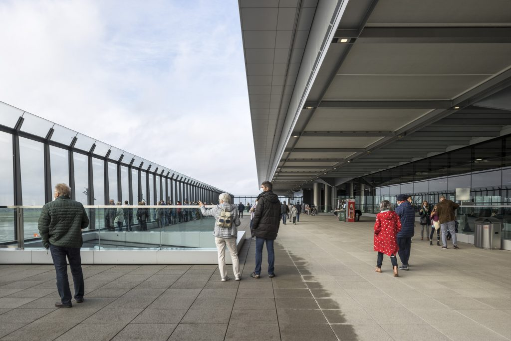 Viewing deck, BER terminal, designed by gmp