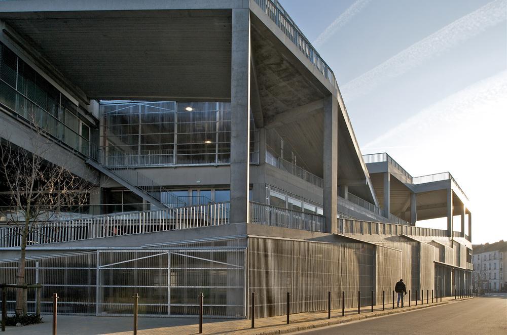 École Nationale Supérieure d'Architecture de Nantes, completed in 2009, photo ©Philippe Ruault
