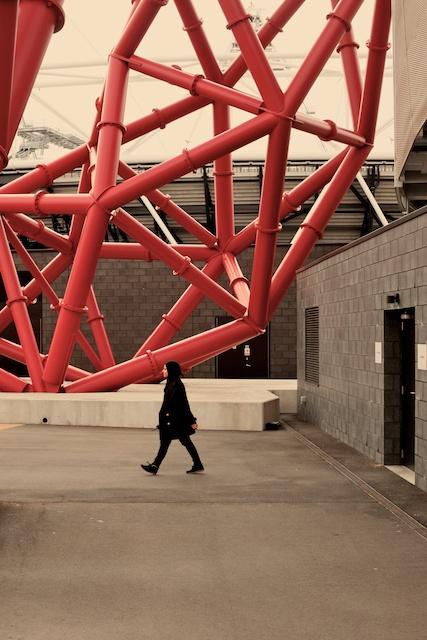 Anish Kapoor's steel sculpture Orbit